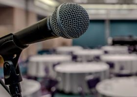 Microphone at Convention