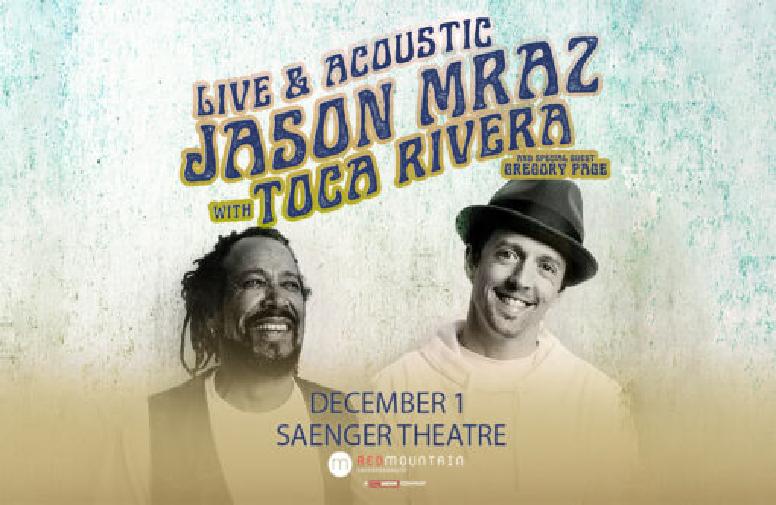 """More Info for Jason Mraz – """"Live & Acoustic"""" Tour"""
