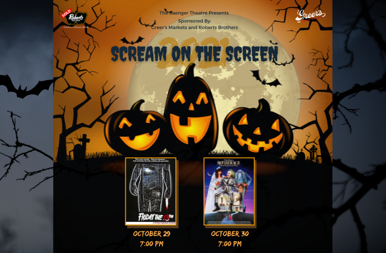 """More Info for Saenger Theatre Presents """"Scream on the Screen"""""""